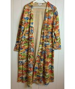 Lularoe Sarah Cardigan Duster Pockets Womens Large L Multicolor Swirls B... - $34.60