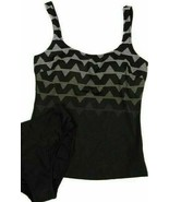 Gottex Blue Women's 2 piece Tankini Swimsuit Black Gray Sz 6 - $38.40