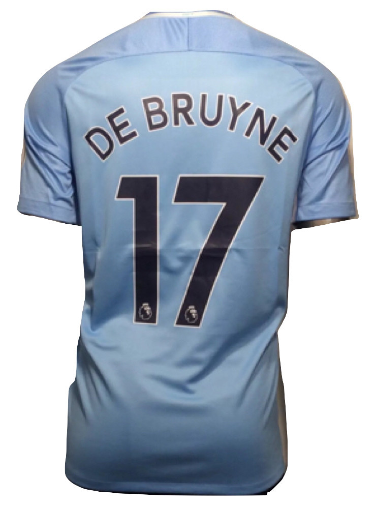 3ee2136dc73 Img 6121821291 1533262307. Img 6121821291 1533262307. Previous. 2017-18  Manchester City Nike Kevin De Bruyne  17 3XL Away Soccer Jersey