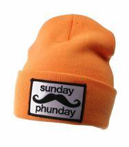 Team Phun Sunday Phunday Neon Orange Pink Yellow Green Skullie Hat Beanie Hat NW image 11