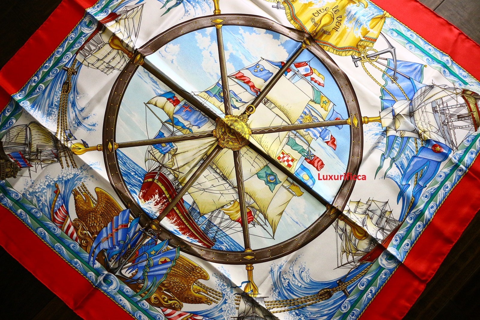 "Vive Le Vent D Hiver Metal auth. vintage hermes paris scarf "" vive le and 50 similar items"