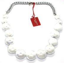 Necklace Antique Murrina, CO833A02, Chain Groumette, Discs, White Pearl image 1