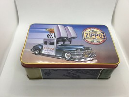 1998 Zippo Collectors Tin (Empty - Tin Only) Embossed Tin Shows 1948 Zippo Car - $22.75