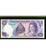 "CAYMAN ISLANDS P9a $40 1974 ""SEA HORSE"" QUEEN ELIZABETH II HIGH GRADE UNC! - $475.00"