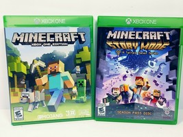 Minecraft & Minecraft Story Mode Season Pass Disc Xbox One Video Game Lot TESTED - $18.80