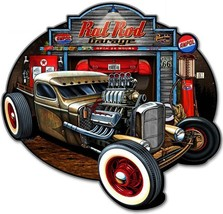 Rat Rod Garage Automotive Metal Sign - $45.00