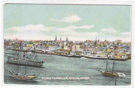 Panorama St John New Brunswick Canada 1910s postcard - $5.94