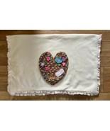 Koala Baby Love Heart Appliqué Sweater Blanket Knit 30x40 - $19.79