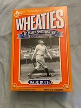 1992 Babe Ruth New York Yankees Baseball 12 Oz Wheaties Cereal Box Opened - $12.86