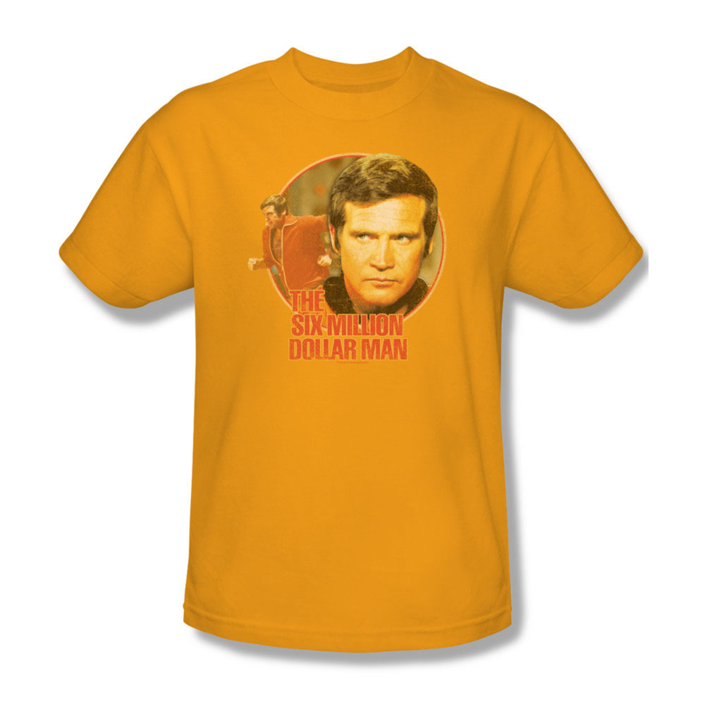 O 70 s sci fi action tv series steve austin lee majors for sale online graphic t shirt nbc526 at