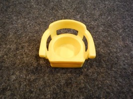 Vintage Fisher Price Yellow Captain's Chair Triangle Mark on Back - $1.08
