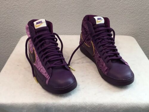 NEW WOMEN'S NIKE BLAZER MID SHOES~METALLIC GOLD/PURPLE - [AV8437-500] SIZE 7.5