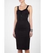 McQ - Alexander McQueen Corseted Black Dress - US Size 10/12 - $450.00