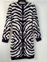 Romeo & Juliet Couture Woman Knit Dress Navy Ivory size M Long Sleev New... - $38.61