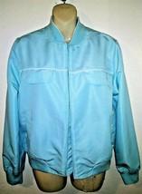 Women's NIKE GOLF Apparel Windbreaker Sz M Vented Jacket Aqua Full Zip P... - $14.00