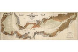 San Francisco Bay Salt Marshes; Antique Map; 1874 - $26.72+