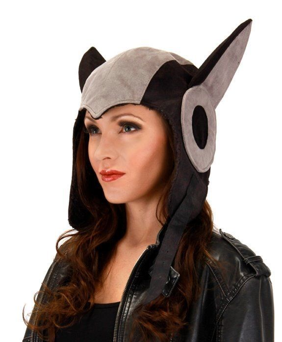 Primary image for SteamPunk AeroCat Black and Grey Ultra-Suede Cosplay Aviator Hat NEW UNWORN