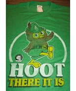 VINTAGE STYLE WOODSY OWL T-Shirt LARGE 80's Don't Pollute NEW w/ TAG  - $19.80