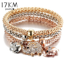 3 PC/Set Crystal Butterful Bracelet&Bangle (12), Fashion Round Charm Pen... - $10.89