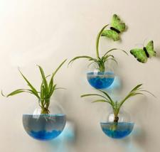 Size 12Cm Hanging Flower Pot Glass Ball Vase Terrarium Wall Fish Tank Aq... - $4.31