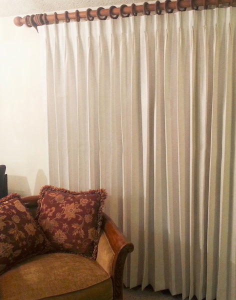 "Primary image for Rio Pinch Pleated Insulated Drape Pair, Ivory, 66"" wide by 94"" long"