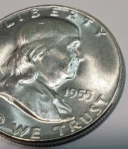 1955 Franklin Silver Half Dollar 50¢ Coin Lot A623 image 4