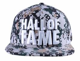 Hall of Fame Chunk Schwere Stickerei Digi Tarnung Snapback Baseballhut Kappe Nwt