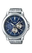 Casio MTP-X300D-2EV Men's Enticer Stainless Steel Multifunction Blue Dia... - $98.74