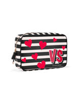 Nwt Victoria's Secret Cosmetic Bag MAKE-UP Travel Bag Valentine's Day HEARTS0667 - $34.99