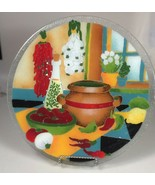 Peggy Karr Southwestern glass serving platter plate wedding gift Tex Mex... - $161.20