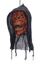 Hanging Head Pumpkin Reaper, Halloween Party Accessory Prop/Room Decoration - $17.66