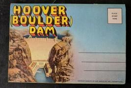 NOS 1948 HOOVER (Boulder) DAM Souvenir Postcard Folder - Linen - Curt Teich - $3.96