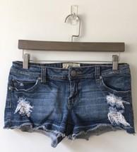 Womens American Rag Cie Medium Wash Distressed Short Shorts Size 5 - $15.88