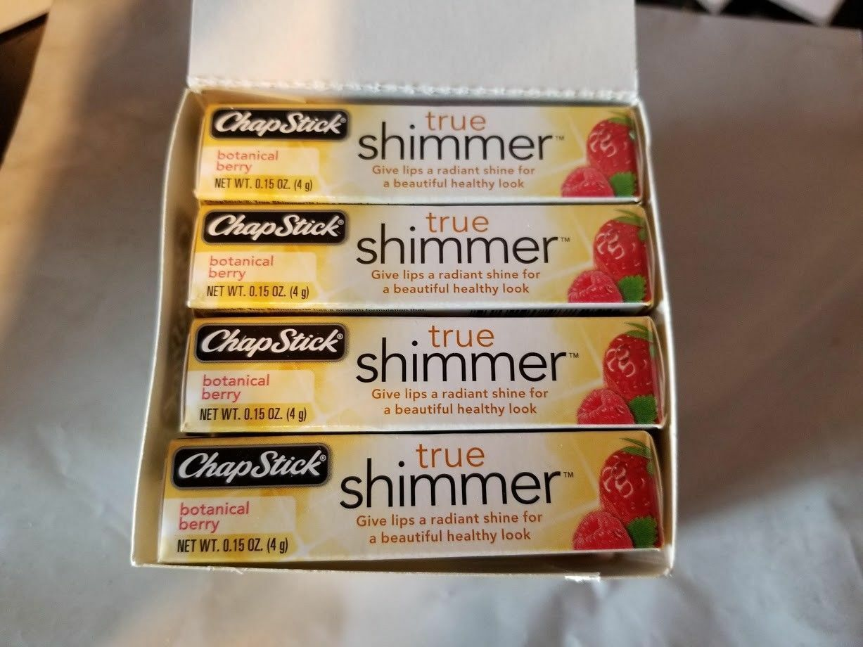 Primary image for 12 x ChapStick True Shimmer BOTANICAL BERRY Lip Balm New in sealed box