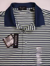 Byron Nelson Golf Polo, Honeydew/Navy Stripe - $45.00