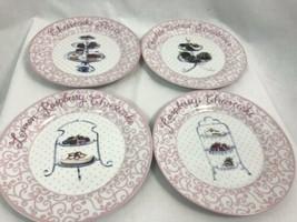 Delectable Desserts Set of 4 Dessert Plates in Original Box - $14.24