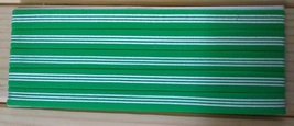 New Unisex Adidas Running, HEADBAND Green White Stripes One Size All Spo... - $6.00