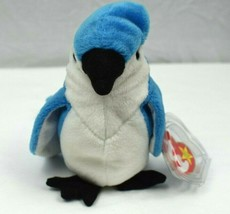 1043c00cfcc Vintage Retired 1997 Ty Beanie Babies Rocket the Blue Jay with errors -   200.00