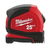 Milwaukee - 48-22-6625 - 25 ft. Compact Tape Measure - $19.75