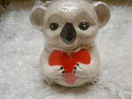 "Adorable Valentine's Day Koala Bear ❤️ Cookie Jar 8""x 6""x 6.7"" New Gray - $18.80"