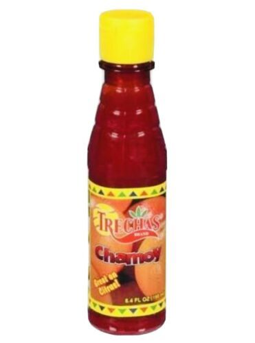 Primary image for 3 X trechas chamoy liquid Mexican Chamoy liquido 7.4oz (210g) fruits