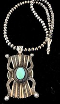 Native American Sterling Silver Turquoise Navaj... - $420.75