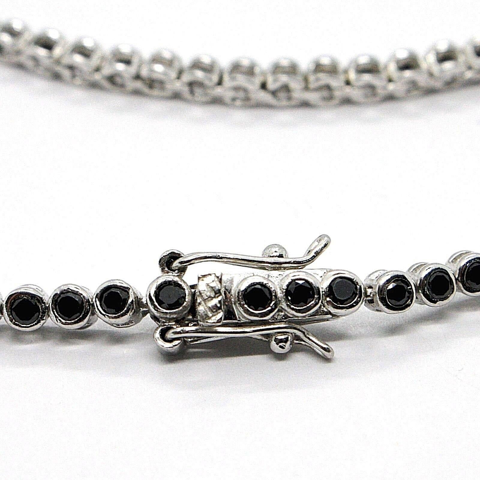Tennis Bracelet, Silver 925, Zircon Cubic Black, Brilliant Cut, 3 MM image 4