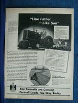 1945 WW 2 Farmall Tractor Ad- Jefferson, IA Soldier Helps Dad Farm - Gen... - $8.06