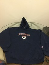 Pennsylvania Penn Quakers Blue Champion Hoodie Sweatshirt Large Good Con... - $14.84