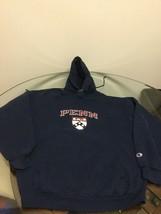 Pennsylvania Penn Quakers Blue Champion Hoodie Sweatshirt Large Good Con... - $14.84