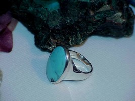 QVC Carolyn Pollack Sterling HUGE Turquoise Ring Relios Sz 9 New Box - $197.99