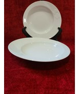 "Rosenthal Asymmetria White Set of 2 Rimmed Soup Bowls 9"" - $49.49"