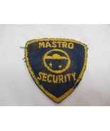 Old Vtg MASTRO SECURITY Embroidered Cloth Uniform Patch Badge Advertising - $9.89