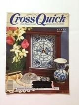 Cross Quick Cross Stitch  Magazine August September 1989 Volume 1 Number 6 - $4.94